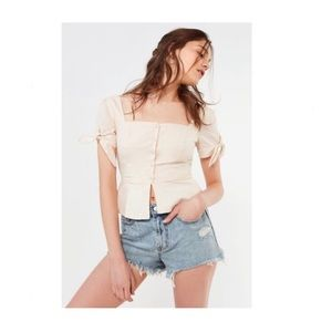 URBAN OUTFITTERS BDG DISTRESSED DENIM SHORT 25